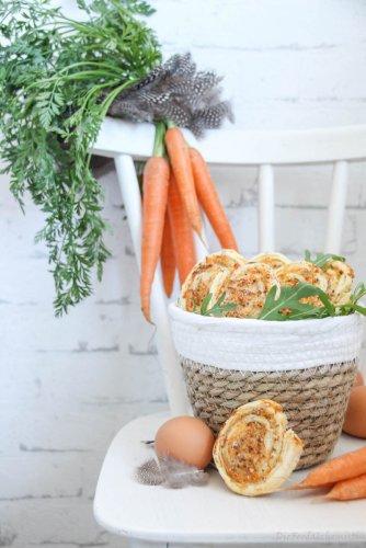 Karotten Rucola Schnecken