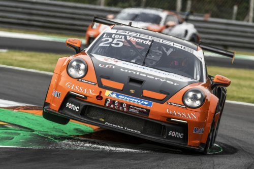 Porsche Carrera Cup Deutschland win for Larry ten Voorde at Monza