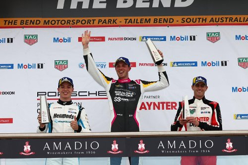 Cameron Hill sweeps The Bend to take third-straight Porsche Carrera Cup Australia round win