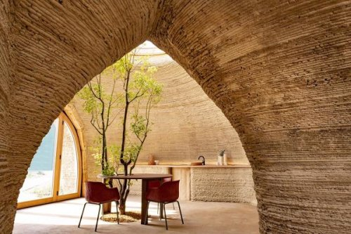 Mario Cucinella Architects and WASP built world's first 3D printed house made of local raw earth