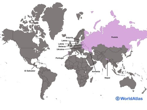 Countries Where Women Far Outnumber Men