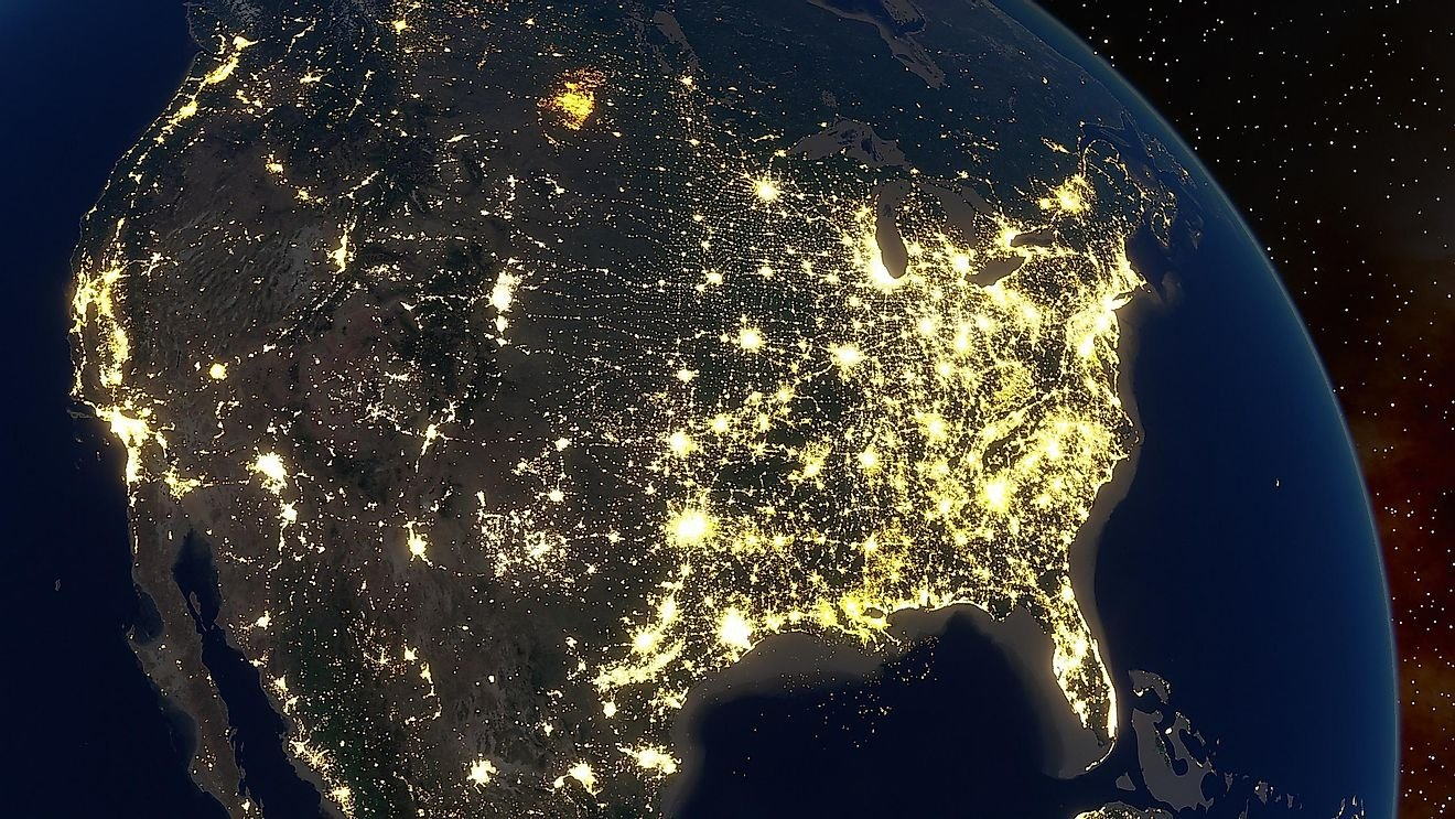 How Is North America Divided Geographically?