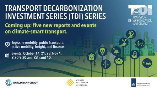 Transport Decarbonization Investment series (TDI)