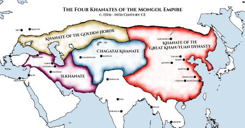 Four Khanates of the Mongol Empire