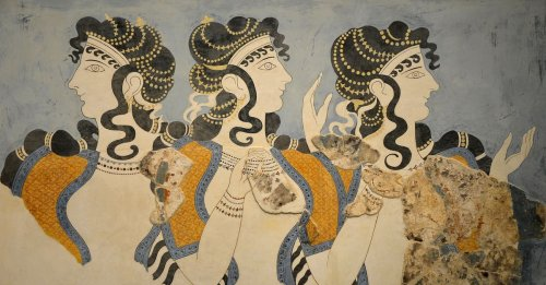 Minoan 'Ladies in Blue' Fresco