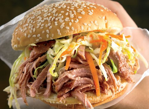 Low-Calorie Pulled Pork Sandwich Recipe | Eat This Not That