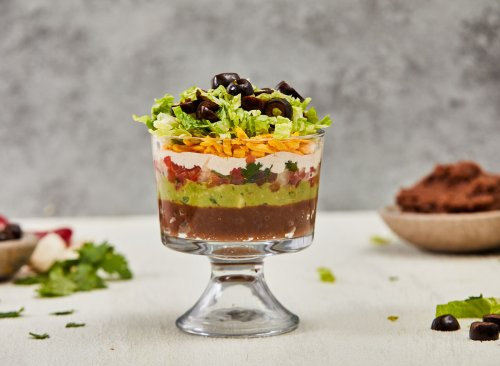 Healthy Individual 7-Layer Dip Snack Recipe | Eat This Not That