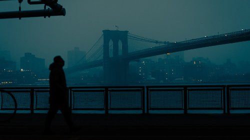 Dramatic street scenes from stormy New York City