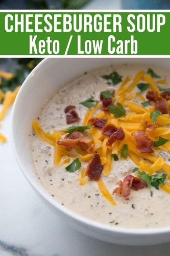 Keto Cheeseburger Soup Recipe {Comforting & Delicious}