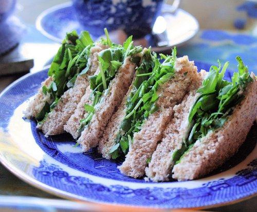 """Poor Man's Bread"" - Victorian Watercress Tea Sandwiches for High Tea, Children's School Lunchbox and Picnics"
