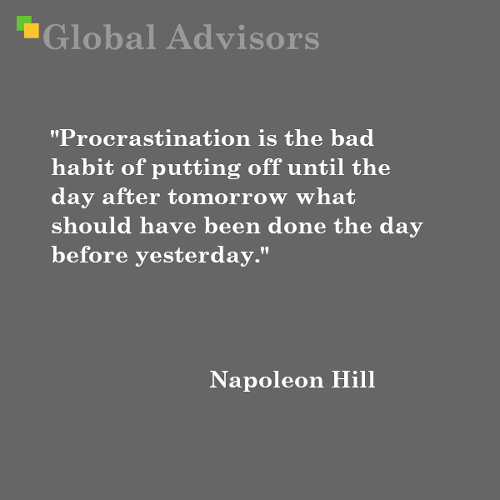 Quote: Napoleon Hill - Global Advisors | Quantified Strategy Consulting