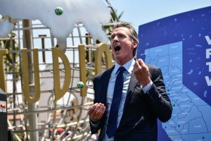 Could Newsom's fun and games backfire?