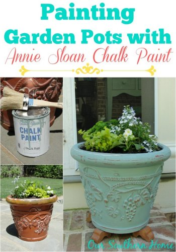 Painting Garden Pots with Annie Sloan Chalk Paint