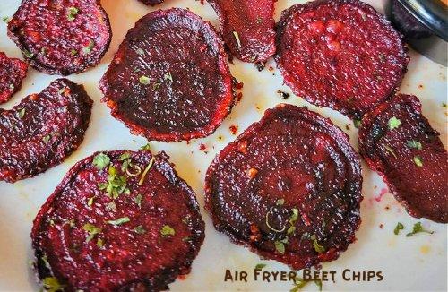 Homemade Crispy Air Fryer Beet Chips - Daily Yum