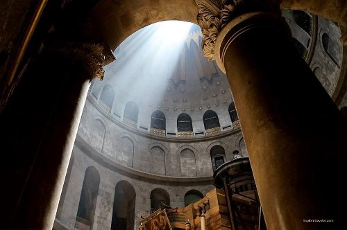 The Magnificent Church Of The Holy Sepulcher In Jerusalem Israel