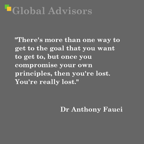 Quote: Dr Anthony Fauci - Global Advisors | Quantified Strategy Consulting