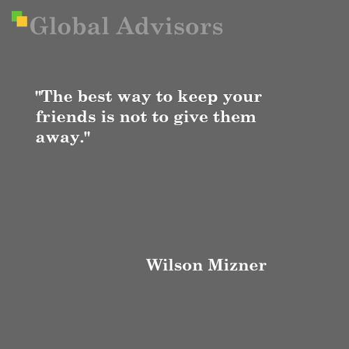 Quote: Wilson Mizner - Global Advisors | Quantified Strategy Consulting