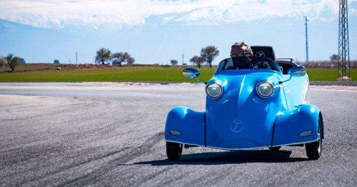 Messerschmitt's weird 3-wheeled car is back as a new electric vehicle