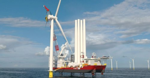 The US gets a game-changing offshore wind farm installation vessel