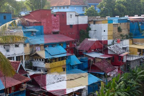The Color Block Favelas of Yogyakarta, Indonesia