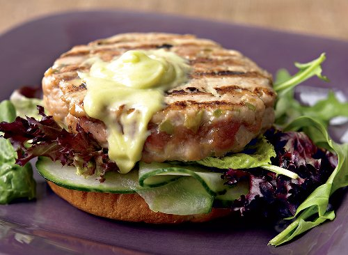 Asian-Inspired Tuna Burger With Wasabi Mayo Recipe | Eat This Not That