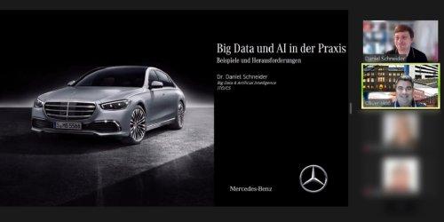 Digitalisierung in der Praxis: Gastvortrag von Mercedes-Benz zum Thema Big Data und AI