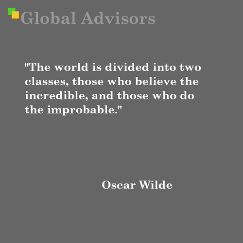 Quote: Oscar Wilde - Global Advisors | Quantified Strategy Consulting