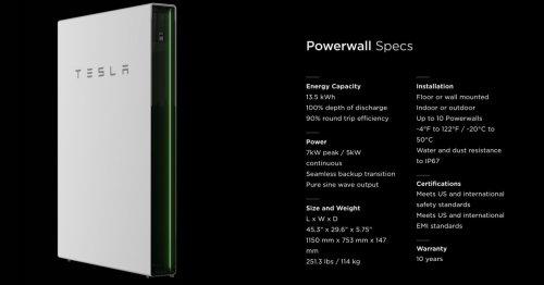 Tesla is increasing Powerwall power capacity by up to 50%