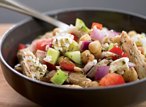 Greek Salad Recipe With Chicken | Eat This Not That
