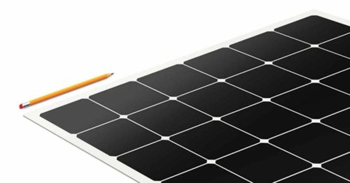 These light, thin, flexible solar panels 'peel and stick' to roofs