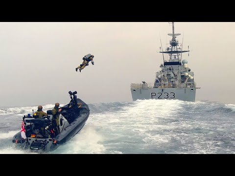 Jet packin' Royal Marines board a ship like Iron Man | Boing Boing