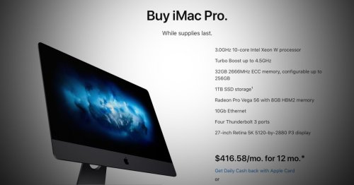 Apple discontinues iMac Pro, Apple Store says buy 'while supplies last' - 9to5Mac