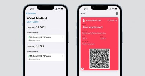 iOS 15.1 lets you store your COVID-19 vaccination card in the Wallet app