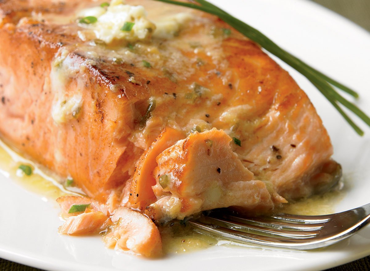 Grilled Salmon Recipe With Ginger Soy Butter | Eat This Not That