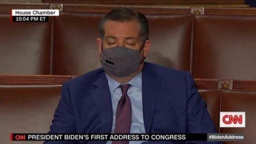 CNN catches Texas' Ted Cruz sleeping during Presidential address   Boing Boing