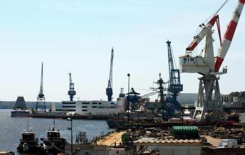 Navy's top officer likes what he sees at Bath Iron Works