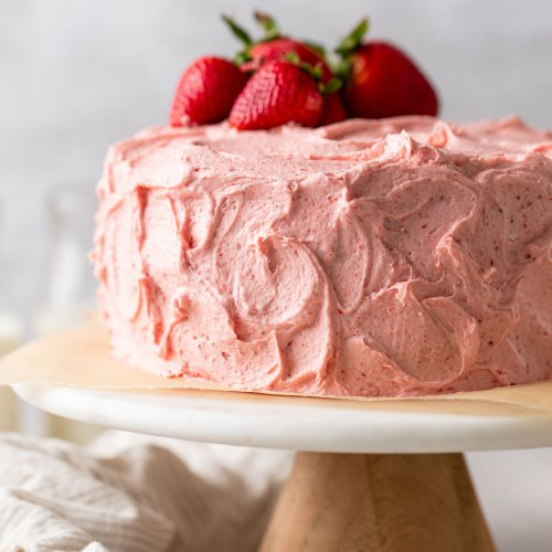 Homemade Strawberry Cake - Live Well Bake Often