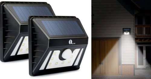 Just $9 will score you two outdoor LED solar lights to illuminate your backyard