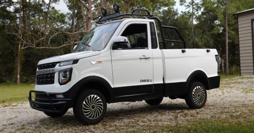 I actually bought a cheap electric pickup truck from Alibaba. Here's what showed up