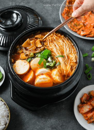 Sundubu Jjigae or Korean Soft Tofu Stew (Vegan Recipe)