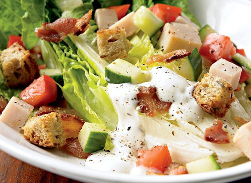 Healthy Turkey BLT Salad With Ranch Dressing Recipe | Eat This Not That
