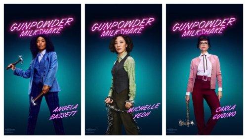 'Gunpowder Milkshake' Character Posters and Their Weapons of Choice