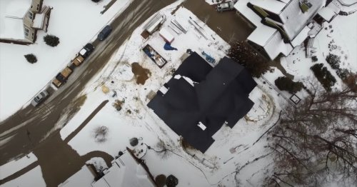 Watch how Tesla Solar Roof automatically makes snow slide right off
