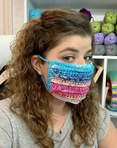 Face Mask Cover Up - Free Crochet Pattern
