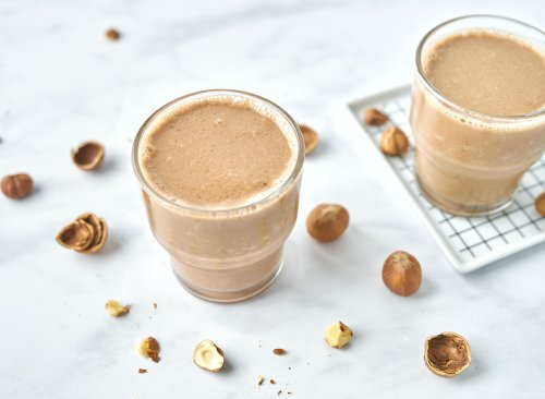Plant-Based Chocolate Hazelnut Smoothie with Adaptogens | Eat This Not That