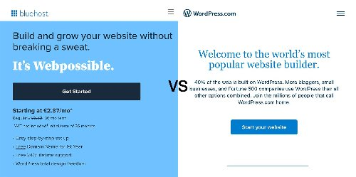 Bluehost vs WordPress.com – Which Is Better For WordPress? (2021)