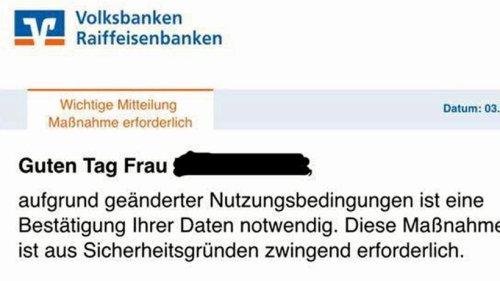 Volksbank Schmallenberg warnt vor Betrügern