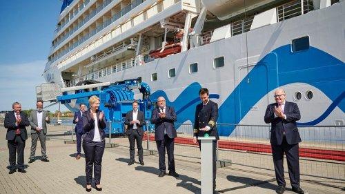 AIDA Cruises eröffnet mit AIDAsol größte Landstromanlage Europas in Rostock-Warnemünde