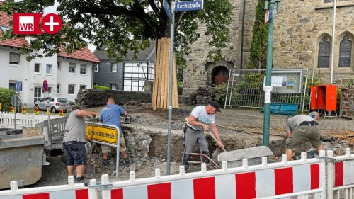 Die Oestricher Kirchenmauer wird umfassend saniert