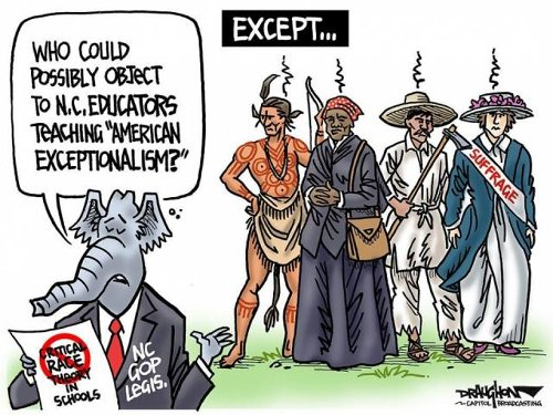 Editorial cartoon: Exceptions to 'exceptionalism'